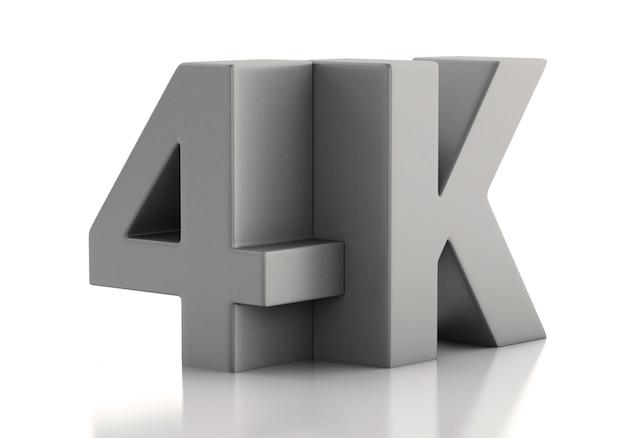 Ilustração 3d. tv 4k ultrahd. conceito de tecnologia. Foto Premium