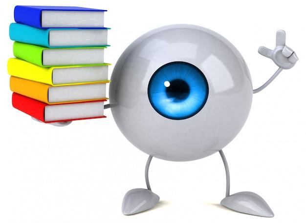 Ilustração abstrata do olho Foto Premium