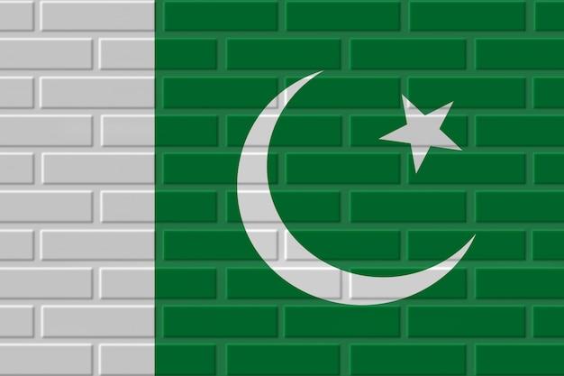 Ilustração de bandeira de tijolo do paquistão Foto Premium