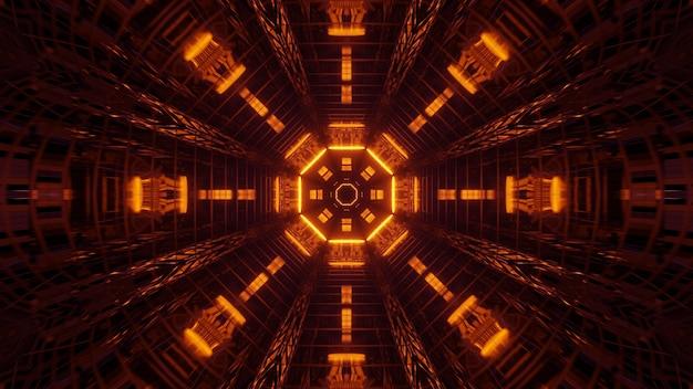 Ilustração de formas geométricas com luzes laser coloridas Foto gratuita