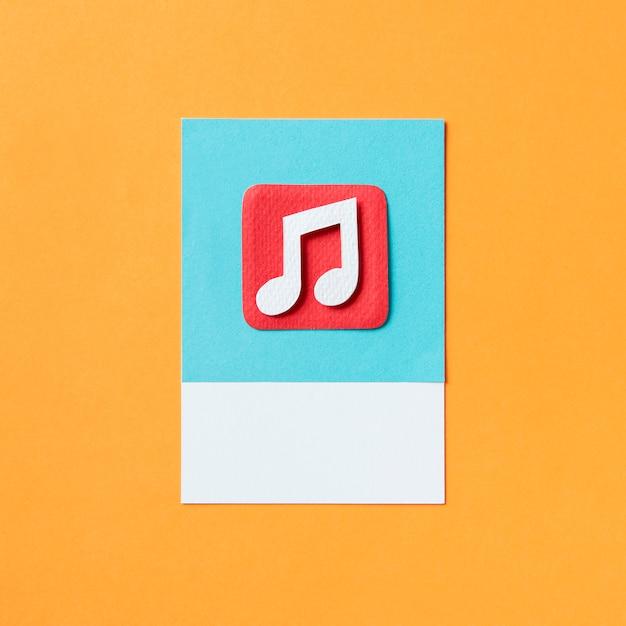 Ilustração de ícone de nota musical de áudio Foto Premium
