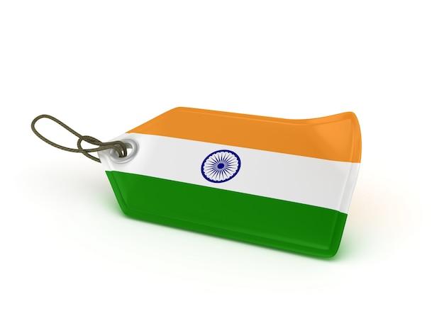 Ilustração de renderização de preço de compra bandeira indiana Foto Premium