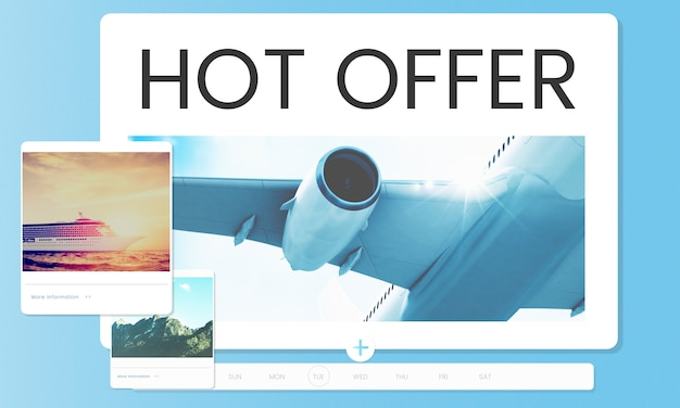 Ilustração de reserva de passagem aérea para destino de viagem Foto gratuita