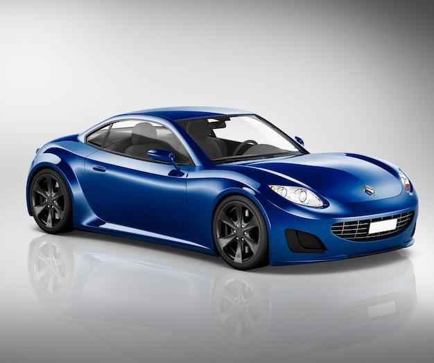 Ilustração, de, um, carro azul Foto Premium