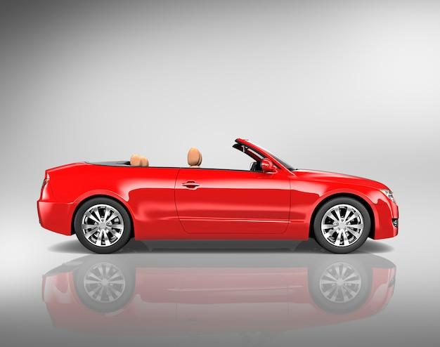Ilustração, de, um, carro vermelho Foto Premium