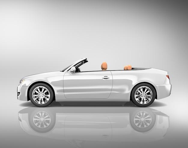 Ilustração, de, um, prata, carro bronze Foto Premium