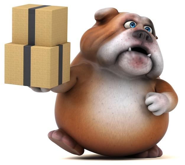 Ilustração divertida de bulldog Foto Premium