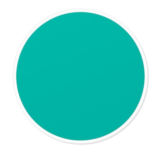 Ilustração em vetor círculo redondo verde vazio Foto Premium