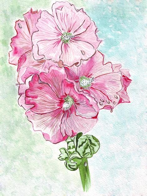 Ilustração jovem sino flores Foto Premium