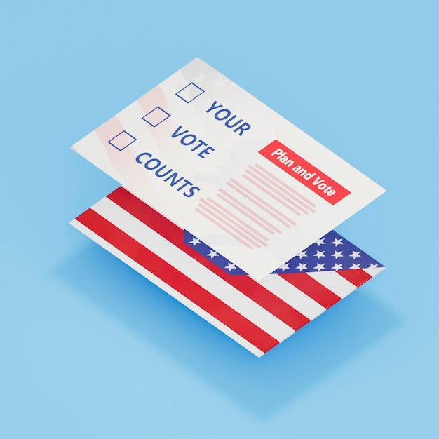 Imagem de close-up do nosso conceito de eleições Foto gratuita
