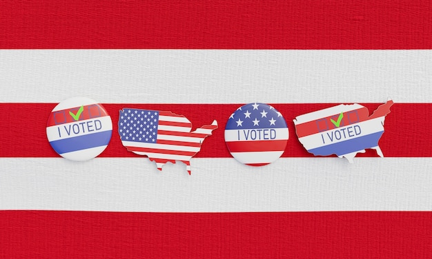Imagem de close-up do nosso conceito de eleições Foto Premium