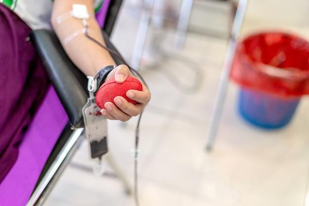 Imagem de doação de sangue Foto Premium