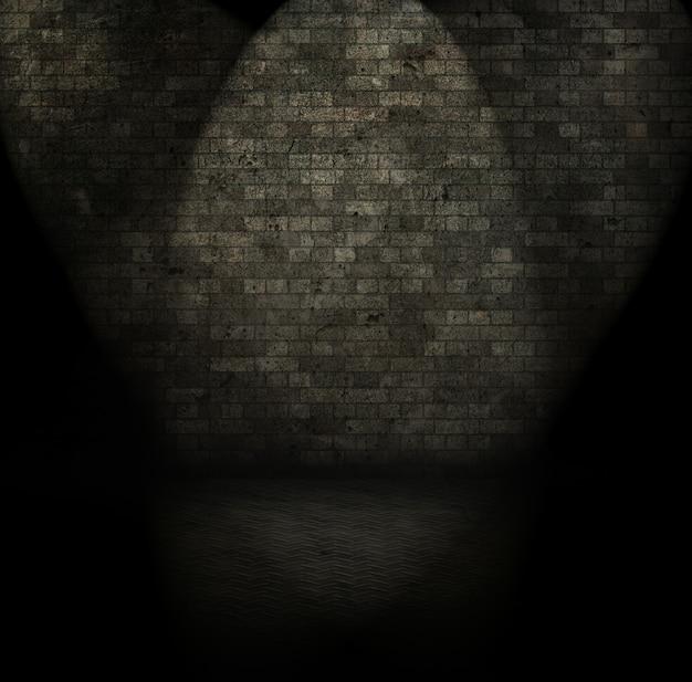 Imagem de estilo grunge de um interior de quarto escuro Foto gratuita