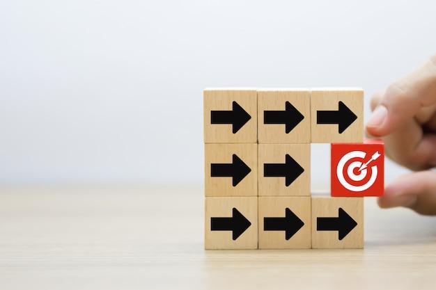 Imagem de fundo de alvo, negócios e sucesso. Foto Premium