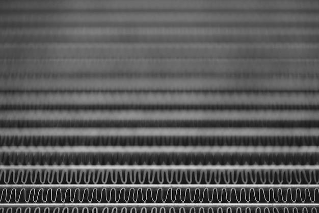Imagem de fundo monocromático de radiador automotivo close-up Foto Premium