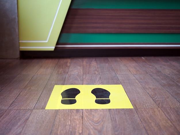 Imagem de marcações para a área de espera em uma cafeteria Foto Premium