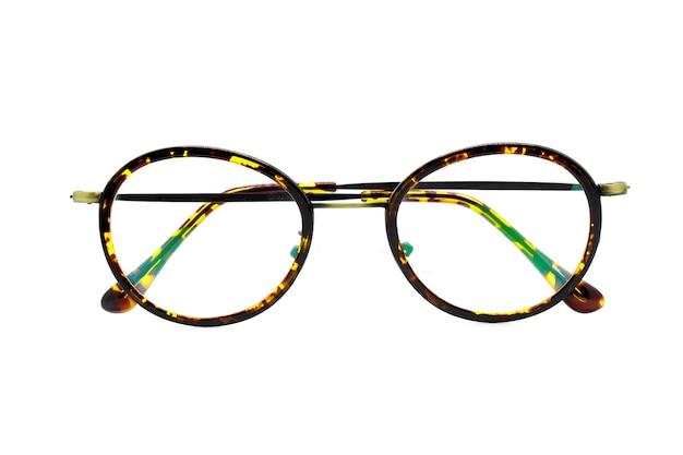 Imagem de óculos na moda modernos, isolado no branco Foto Premium