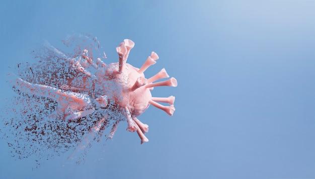 Imagem do vírus da gripe ou covid-19. Foto Premium