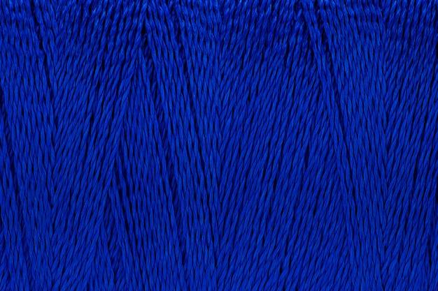 Imagem macro de textura de fio azul cor de fundo Foto Premium