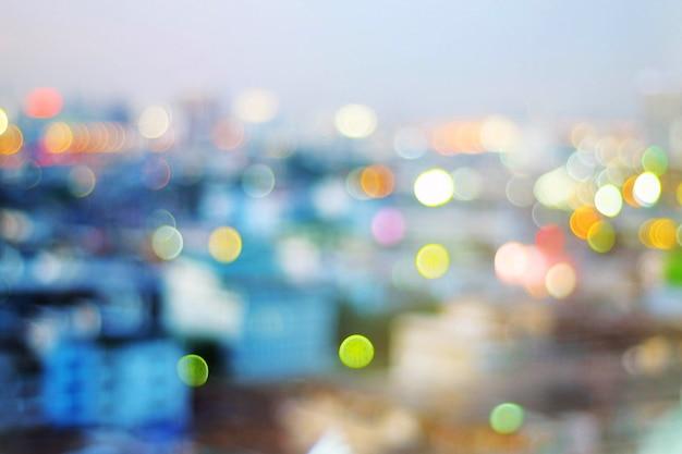 Imagens de bokeh na cidade Foto Premium