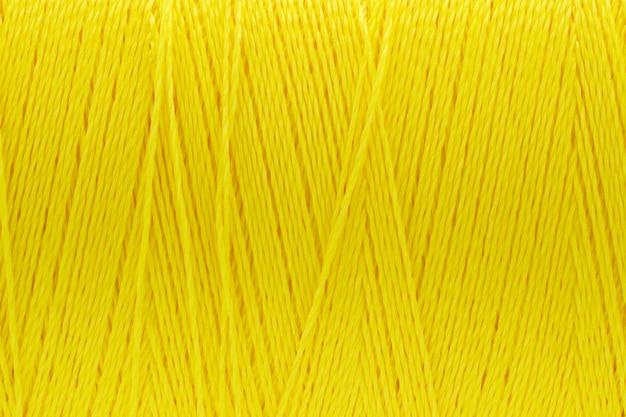 Imagens de macro de textura de fio amarelo cor de fundo Foto Premium