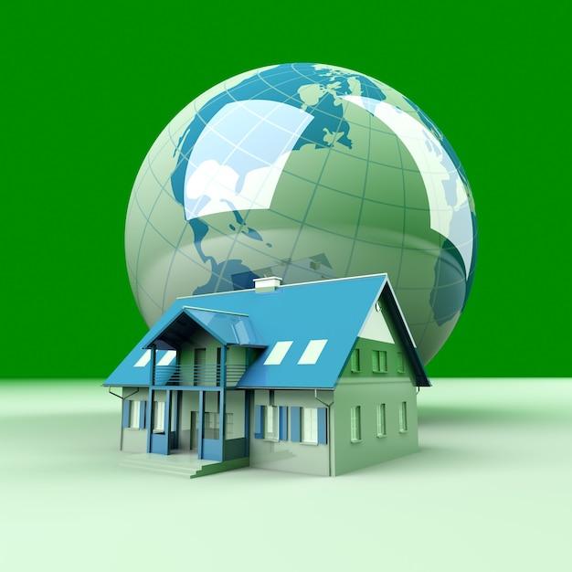 Imóveis espalhados pelo mundo. Foto Premium