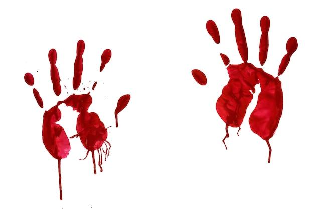 Impressão sangrenta da mão do horror Foto Premium