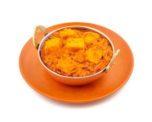 Indiana deliciosa cozinha vegetariana picante paneer toofani Foto Premium