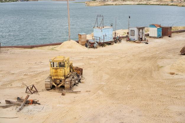 Indústria de mineração de pedreira de areia Foto Premium
