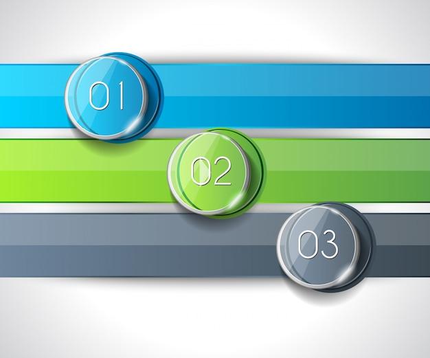 Infográfico abstrato moderno números para exibir dados Foto Premium