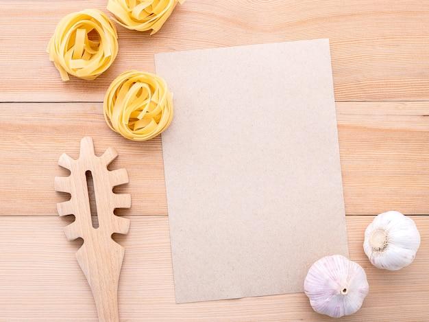 Ingredientes da cozinha italiana Foto Premium