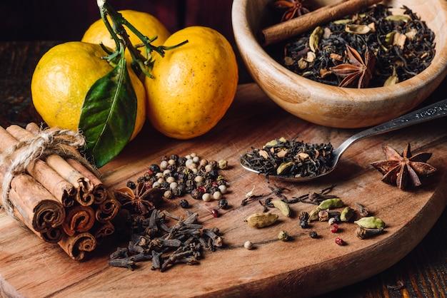 Ingredientes masala chai Foto Premium