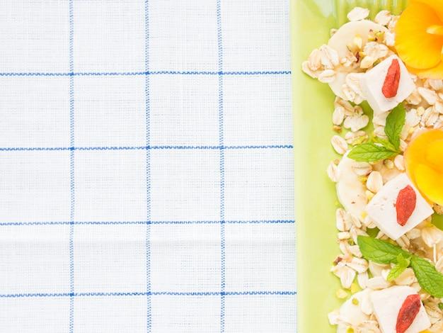 Ingredientes para café da manhã vegan Foto Premium