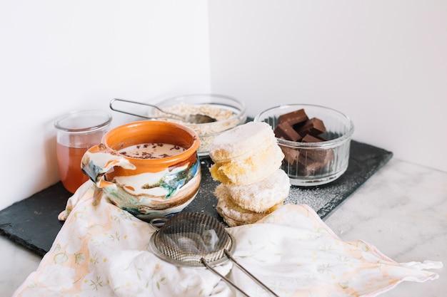 Ingredientes para rosquinhas Foto gratuita