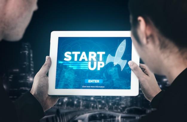 Iniciar negócios de pessoas criativas Foto Premium