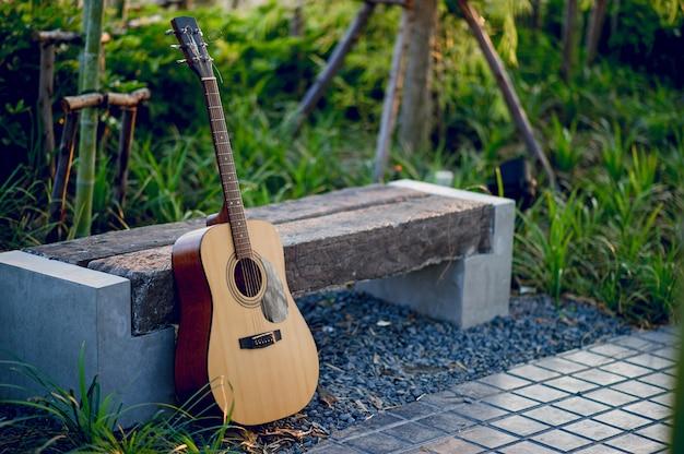 Instrumento guitarra, de, profissional, guitarristas instrumento musical, conceito, para, entretenimento Foto Premium