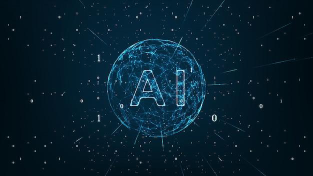Inteligência artificial e machine learning concept. Foto Premium