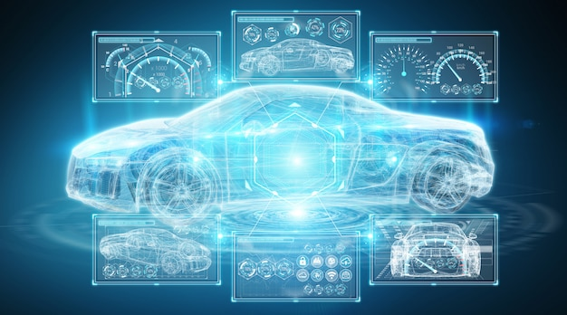 Interface de carro inteligente digital moderna Foto Premium
