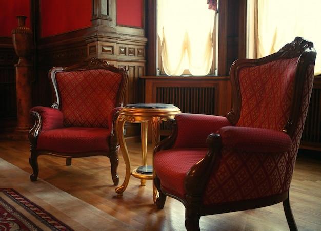 Interior clássico no hotel Foto Premium