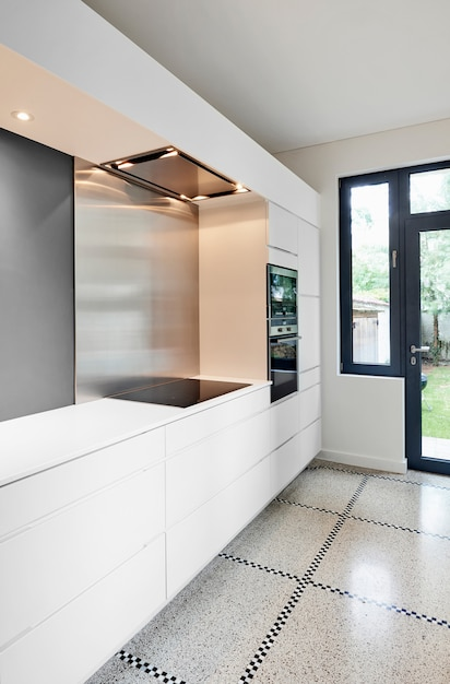 Interior da cozinha moderna elegante Foto Premium