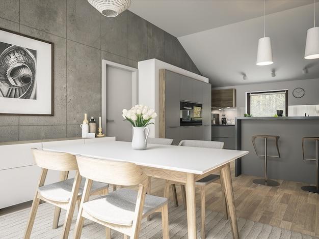 Interior da cozinha moderna Foto Premium