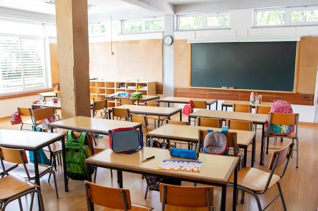 Interior da escola primária Foto Premium