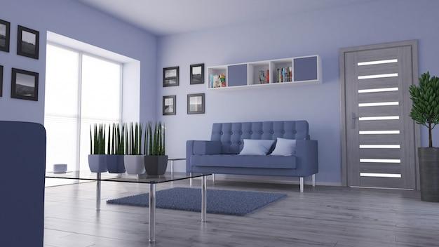 Interior da sala de estar Foto gratuita