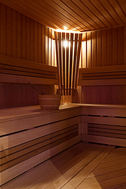 Interior da sauna Foto gratuita