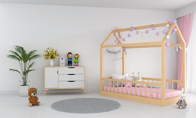 Interior de quarto de crianças brancas Foto Premium