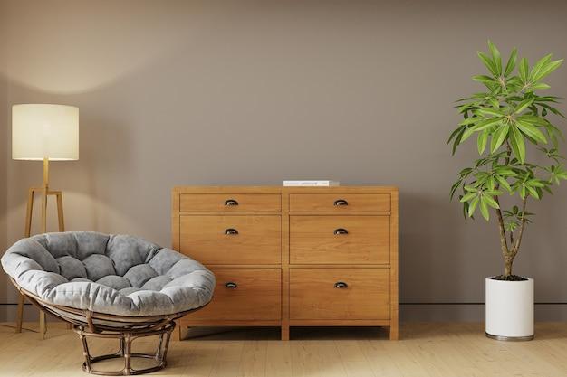 Interior de uma sala com poltrona Foto Premium