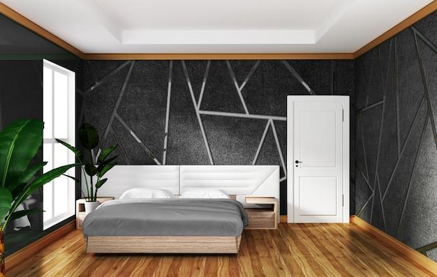 Interior do quarto do sotão com fundo cinzento concreto de moldação, projetos mínimos. Foto Premium