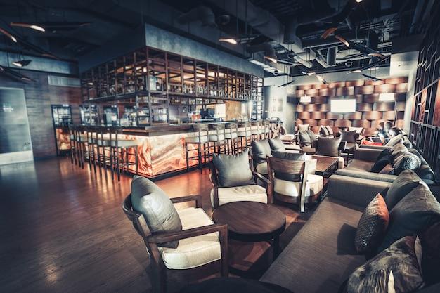 Interior do restaurante de luxo Foto Premium