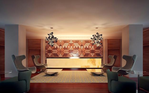 Interior moderno da recepção Foto Premium