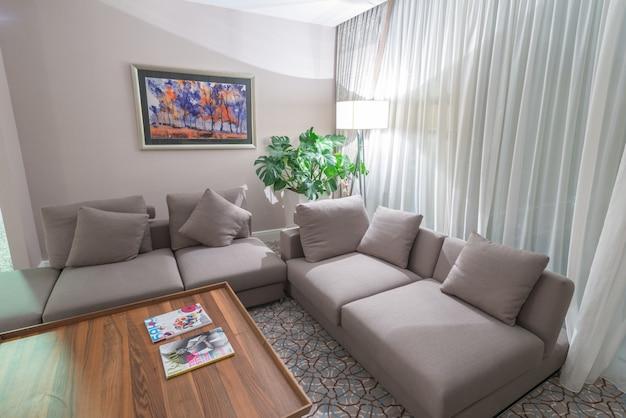 Interior moderno da sala de jantar Foto Premium